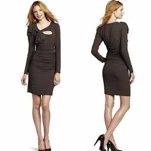 Tracy Reese Hearts Ruched Cutout Sheath Dress